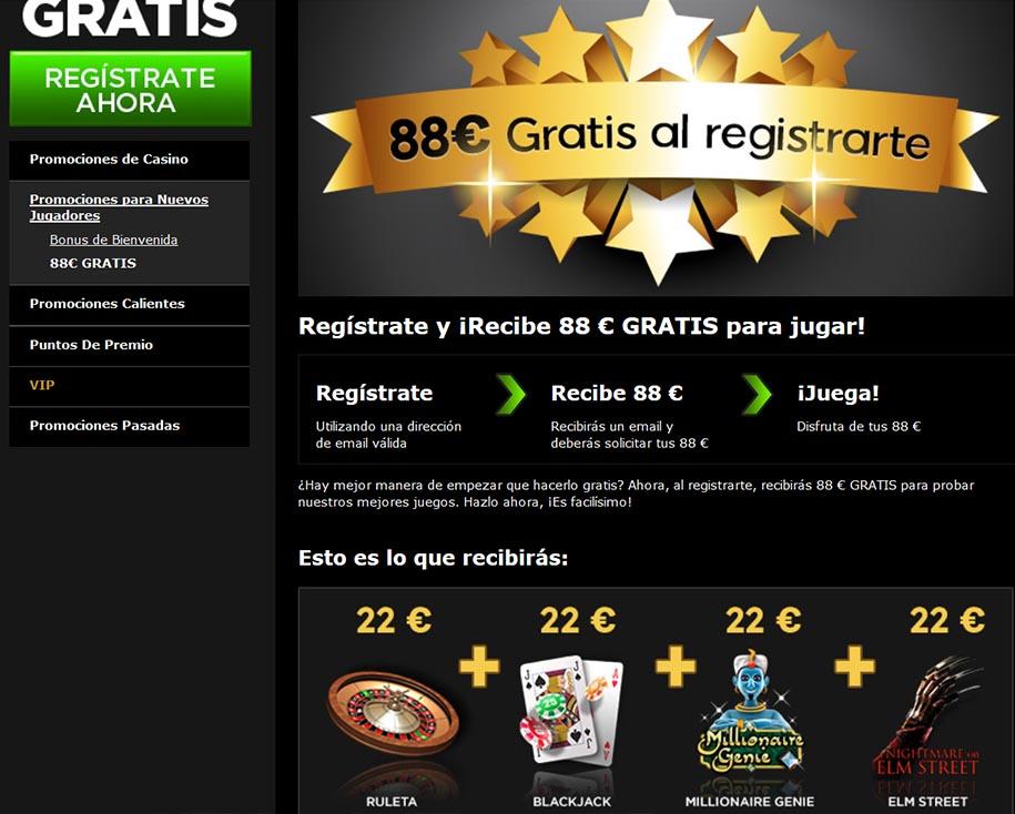 88 euros gratis al registrarse