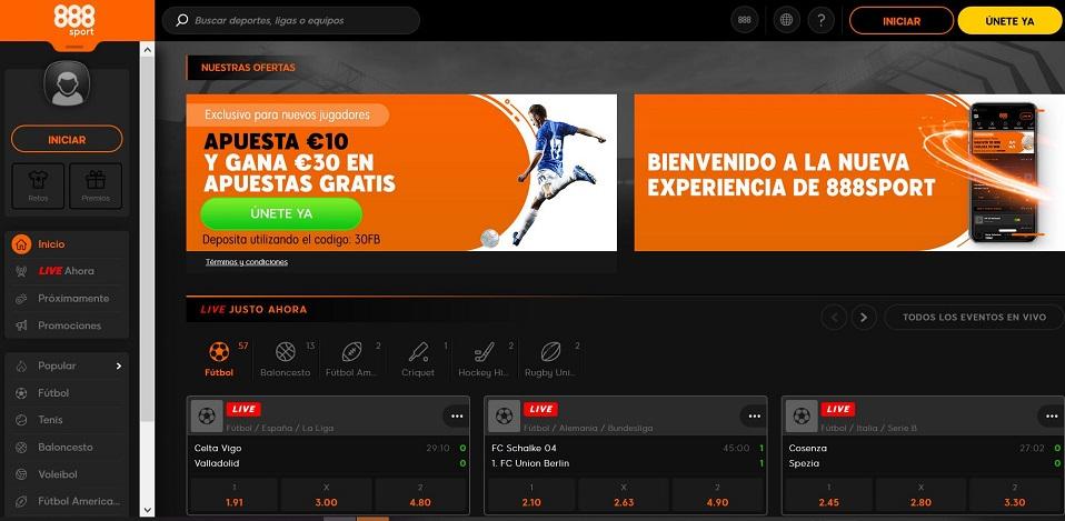888 sport para apuestas deportivas en La Liga