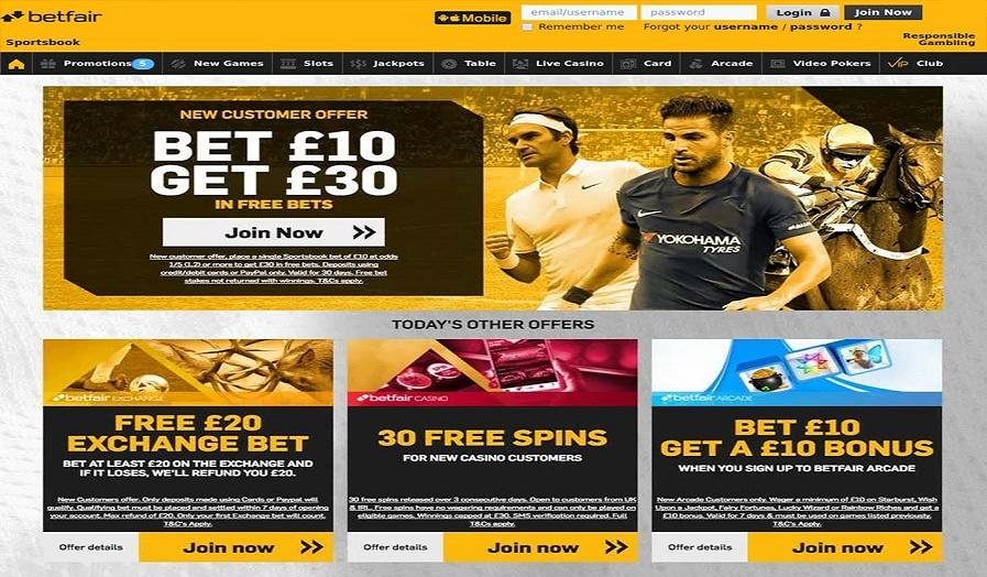 Betfair Casino Online en España con Variedad de Juegos y Bonos