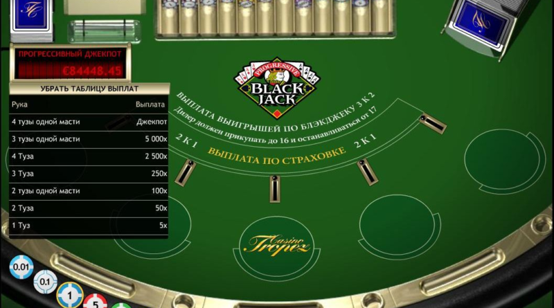 lackjack games at casino tropez