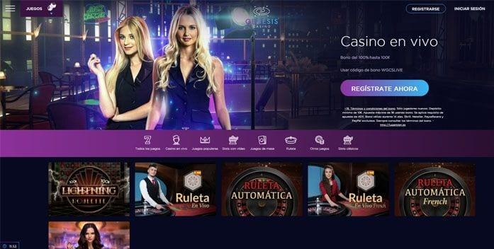 Casino en vivo de Génesis