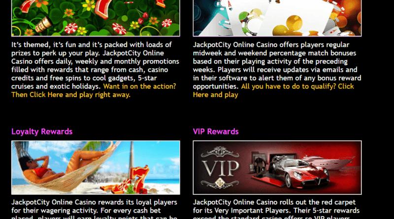 Jackpot city- Bonus