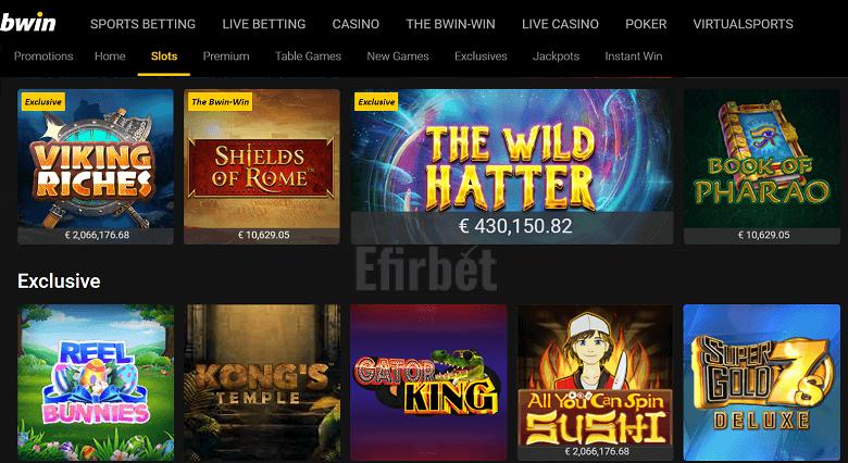 Juegos de Tragaperras en el Casino bwin
