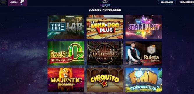Juegos de casino en Génesis