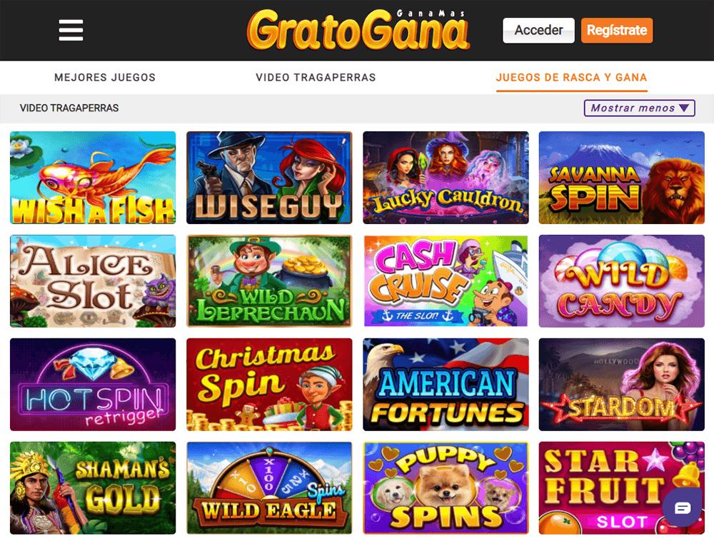 Juegos de casino en GratoGana