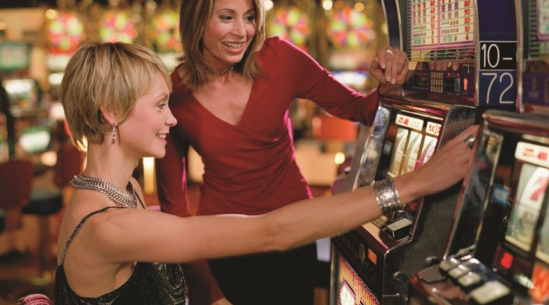 Ladies playing slots