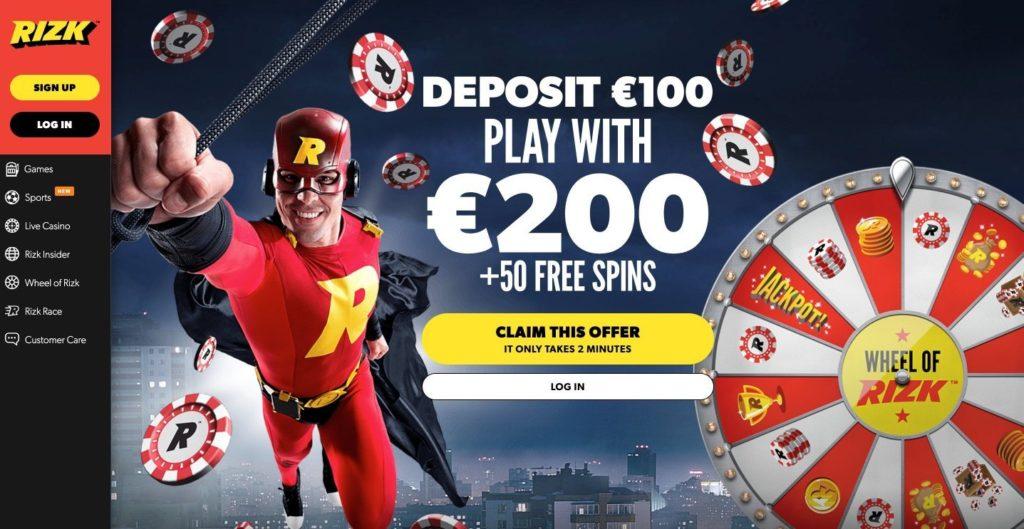 Rizk casino ofrece bono de bienvenida