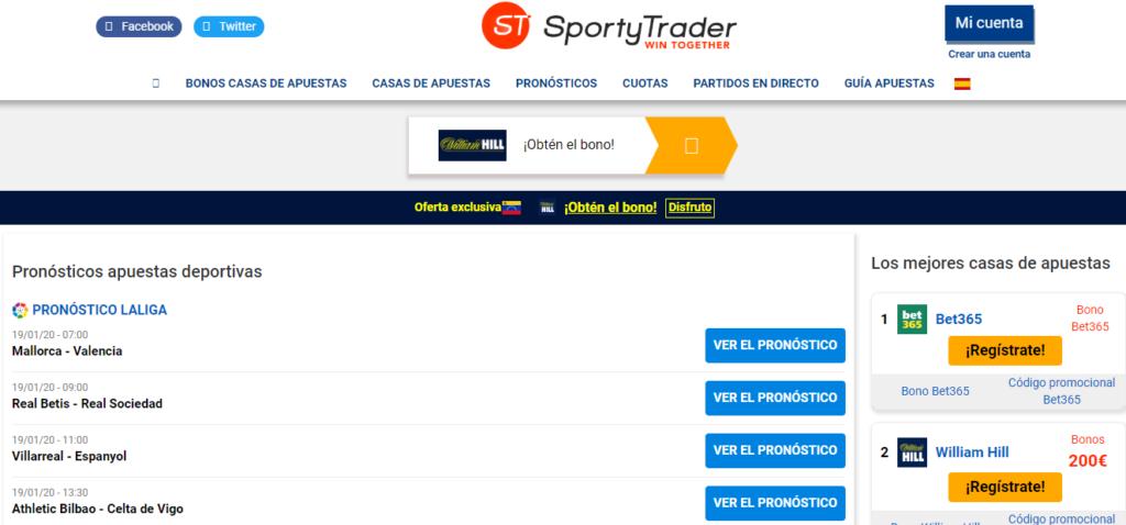 Sporty Trader para pronósticos de asapuestas Deportivas