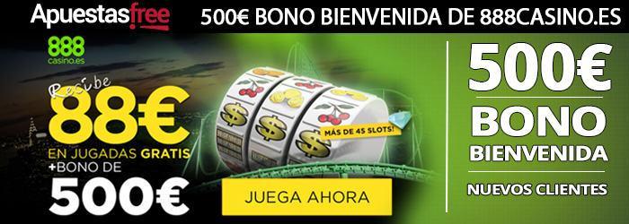 88 euros en jugadas gratis y 500 euros de bono